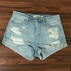 Abercrombie Distressed Denim Shorts